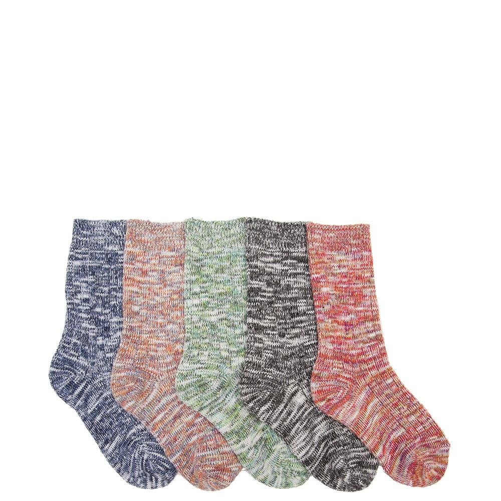 Marled Crew Socks 5 Pack - Girls Little Kid