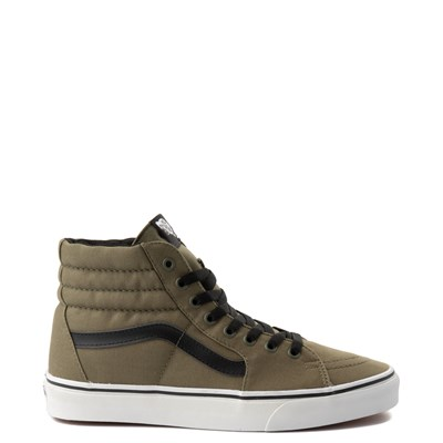 Main view of Olive Vans Sk8 Hi Skate Shoe