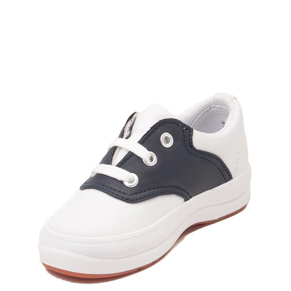 alternate view Keds School Days Casual Shoe - Toddler / Little Kid - White / NavyALT2