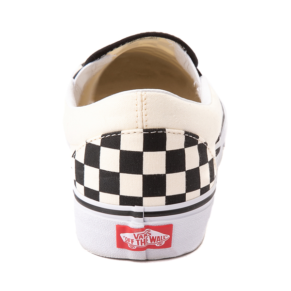 alternate view Vans Slip On Checkerboard Skate Shoe - Black / WhiteALT4