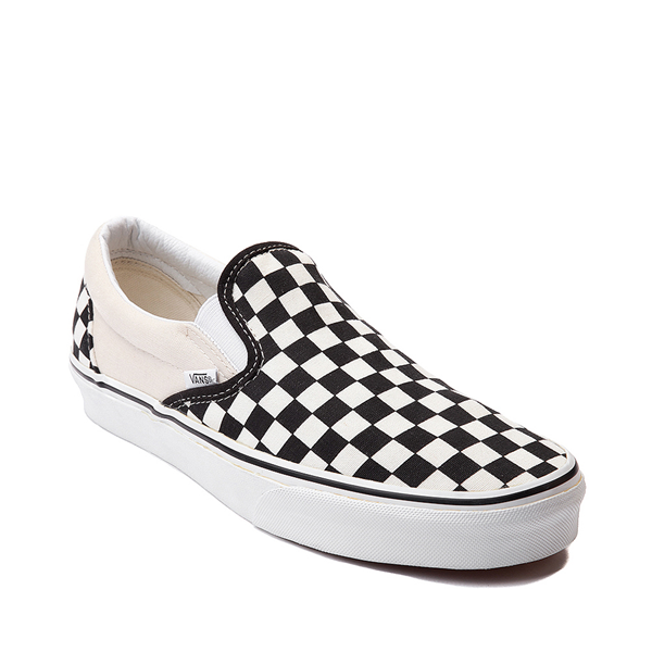 alternate view Vans Slip On Checkerboard Skate Shoe - Black / WhiteALT5