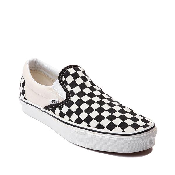 alternate view Vans Slip On Checkerboard Skate Shoe - Black / WhiteALT5