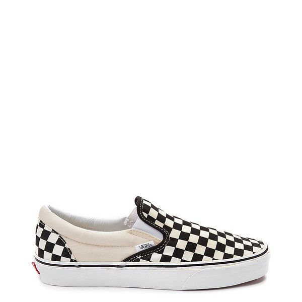 Main view of Vans Slip On Checkerboard Skate Shoe - Black / White