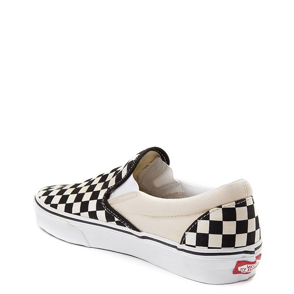 alternate view Vans Slip On Checkerboard Skate Shoe - Black / WhiteALT2