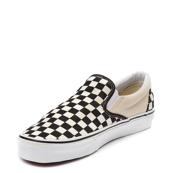 alternate view Vans Slip On Checkerboard Skate Shoe - Black / WhiteALT3