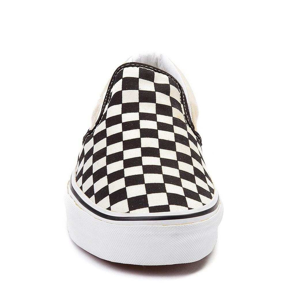 Vans Slip On Checkerboard Skate Shoe Black White