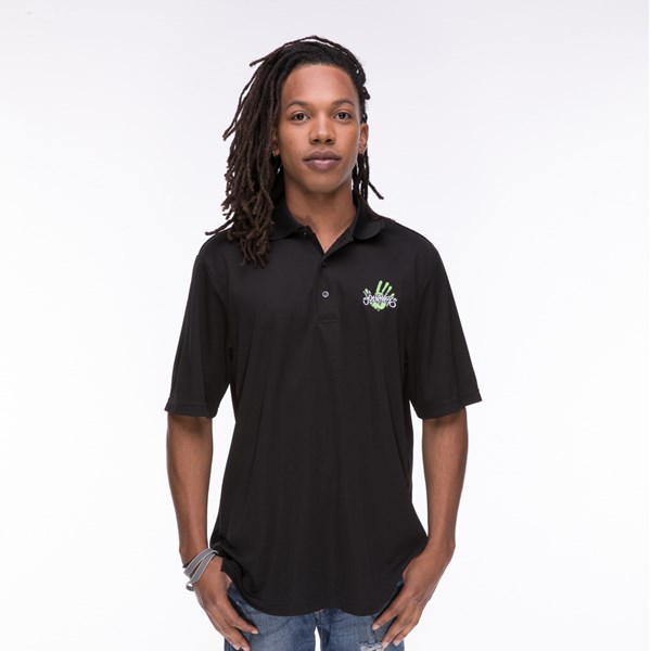 Mens Journeys Logo Polo - Black