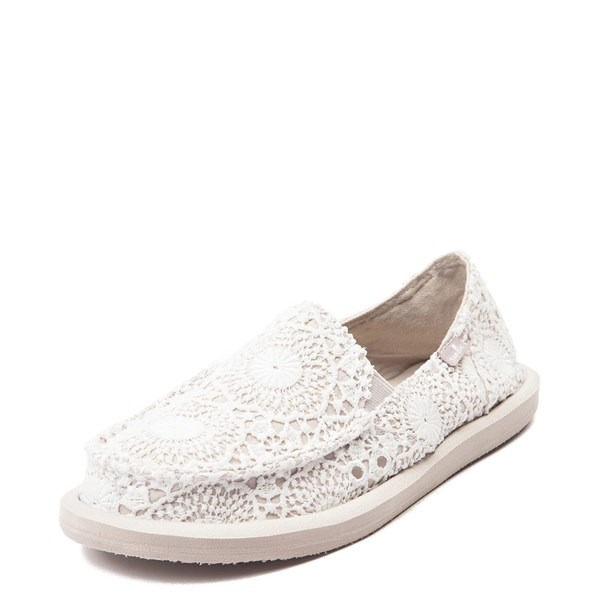 Alternate view of Womens Sanuk Donna Crochet Slip On Casual Shoe