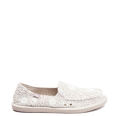 Main view of Womens Sanuk Donna Crochet Slip On Casual Shoe