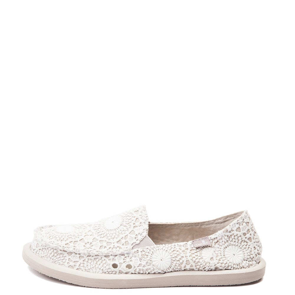 Womens Sanuk Donna Crochet Slip On Casual Shoe