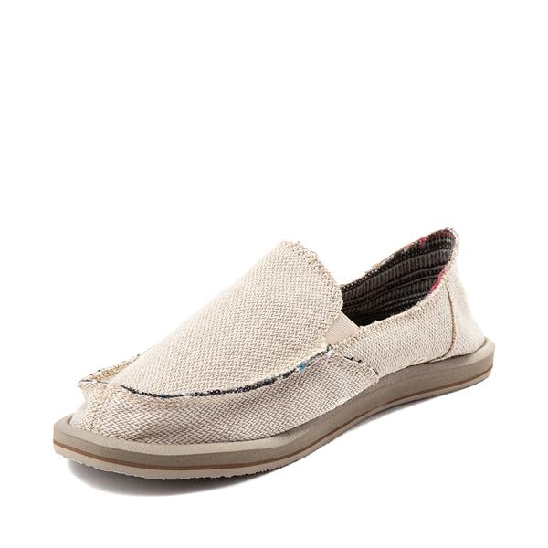 alternate view Womens Sanuk Donna Hemp Slip On Casual Shoe - Light BrownALT2