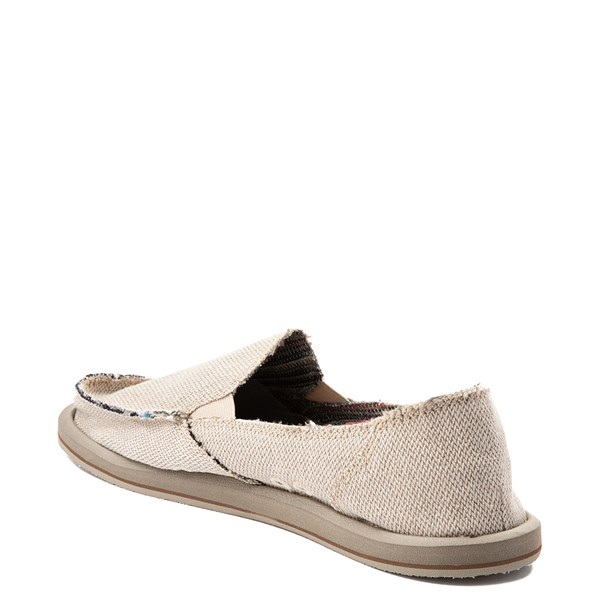 alternate view Womens Sanuk Donna Hemp Slip On Casual Shoe - Light BrownALT2