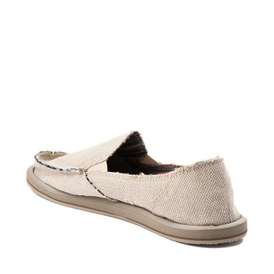 Alternate view of Womens Sanuk Donna Hemp Slip On Casual Shoe - Light Brown