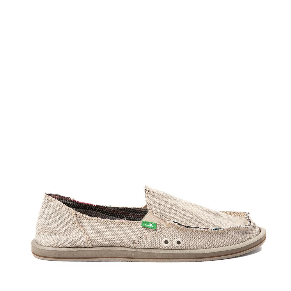 Womens Sanuk Donna Hemp Slip On Casual Shoe - Light Brown