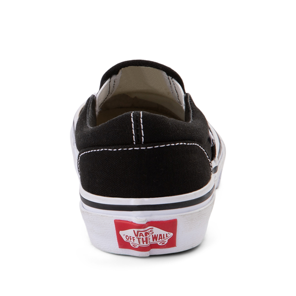 alternate view Vans Slip On Skate Shoe - Little Kid - BlackALT4