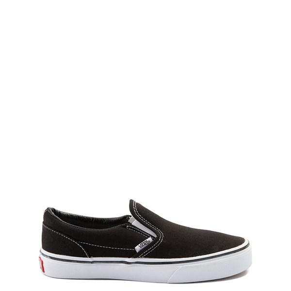 Default view of Vans Slip On Skate Shoe - Little Kid / Big Kid - Black / White