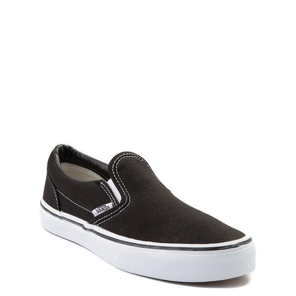 alternate view Vans Slip On Skate Shoe - Little Kid / Big Kid - BlackALT1