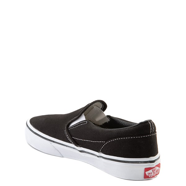 alternate view Vans Slip On Skate Shoe - Little Kid / Big Kid - Black / WhiteALT2