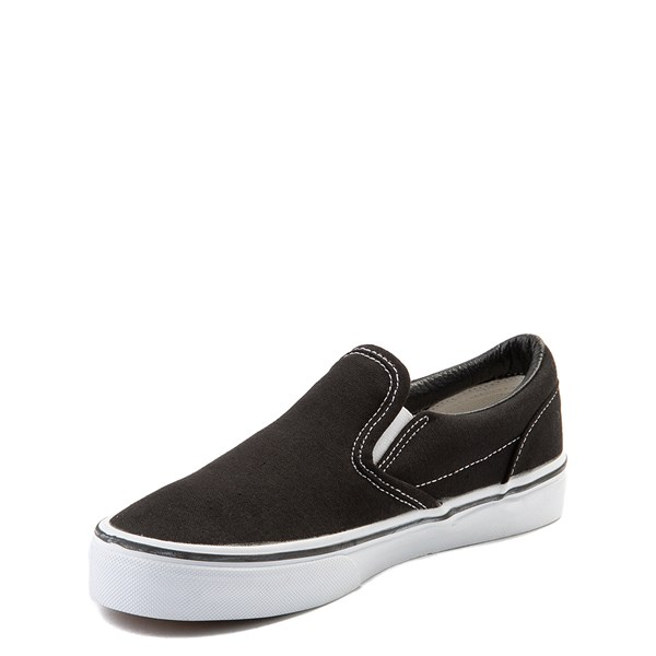 alternate view Vans Slip On Skate Shoe - Little Kid / Big Kid - Black / WhiteALT3