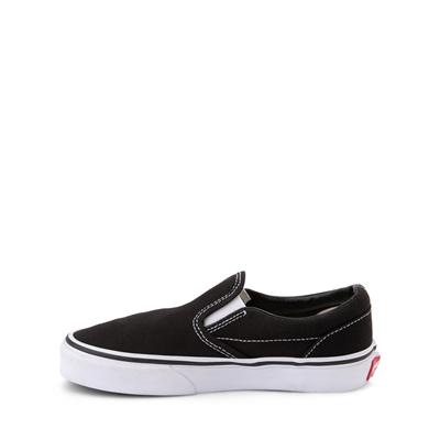 Alternate view of Vans Slip On Skate Shoe - Little Kid - Black
