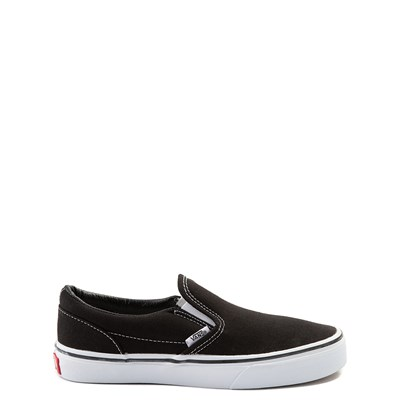 Main view of Vans Slip On Skate Shoe - Little Kid / Big Kid - Black / White