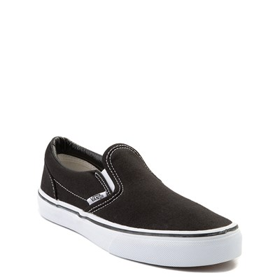 Alternate view of Vans Slip On Skate Shoe - Little Kid / Big Kid - Black / White