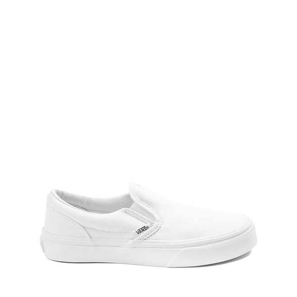 Main view of Vans Slip On Skate Shoe - Little Kid - White