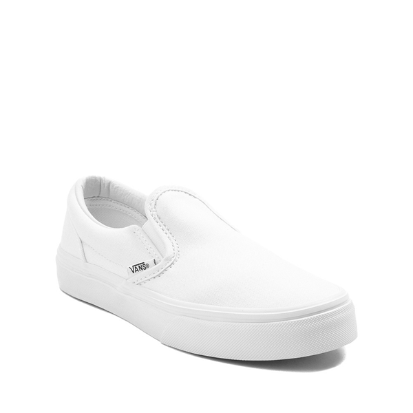 alternate view Vans Slip On Skate Shoe - Little Kid - WhiteALT5