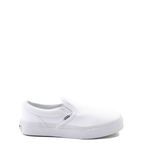 Default view of Vans Slip On Skate Shoe - Little Kid / Big Kid - White