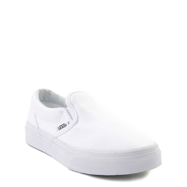 alternate view Vans Slip On Skate Shoe - Little Kid - WhiteALT1