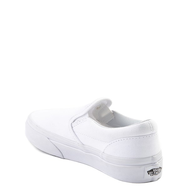 alternate view Vans Slip On Skate Shoe - Little Kid - WhiteALT2