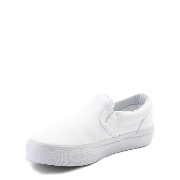 alternate view Vans Slip On Skate Shoe - Little Kid - WhiteALT3