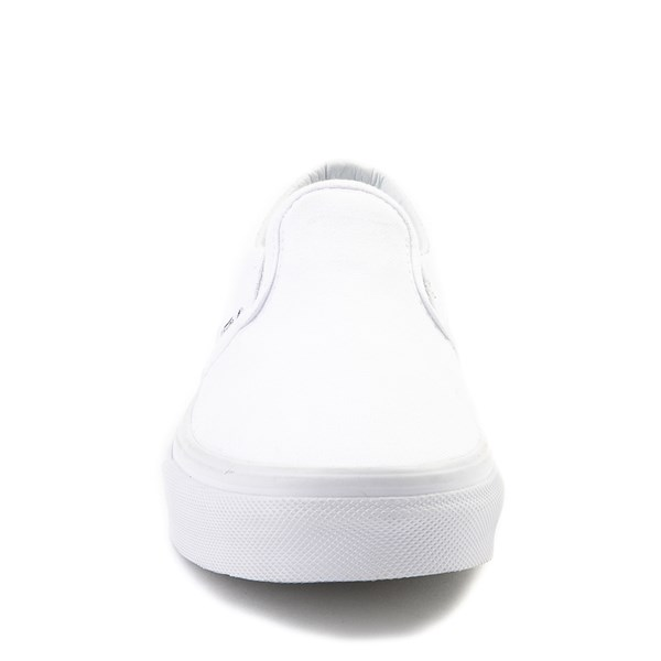 alternate view Vans Slip On Skate Shoe - Little Kid - WhiteALT4