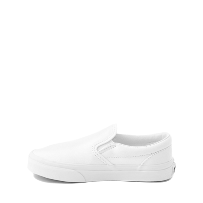Alternate view of Vans Slip On Skate Shoe - Little Kid - White