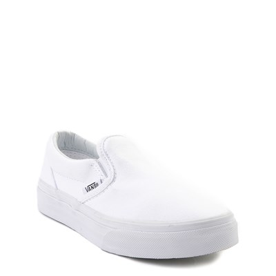 Alternate view of Vans Slip On Skate Shoe - Little Kid / Big Kid - White