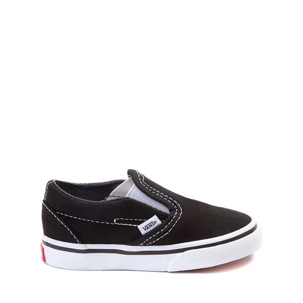 Main view of Vans Slip On Skate Shoe - Baby / Toddler - Black