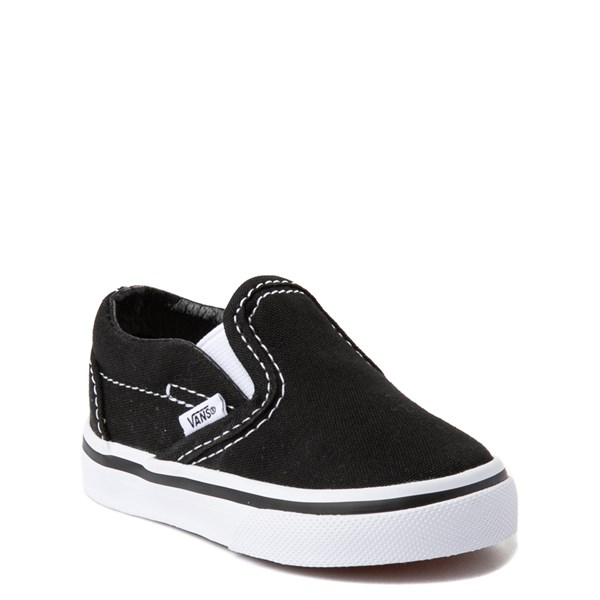 alternate view Vans Slip On Skate Shoe - Baby / Toddler - BlackALT1
