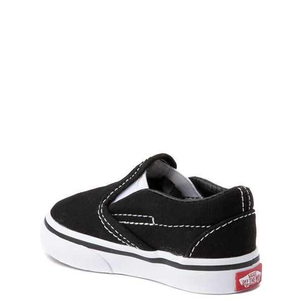 alternate view Vans Slip On Skate Shoe - Baby / Toddler - BlackALT2