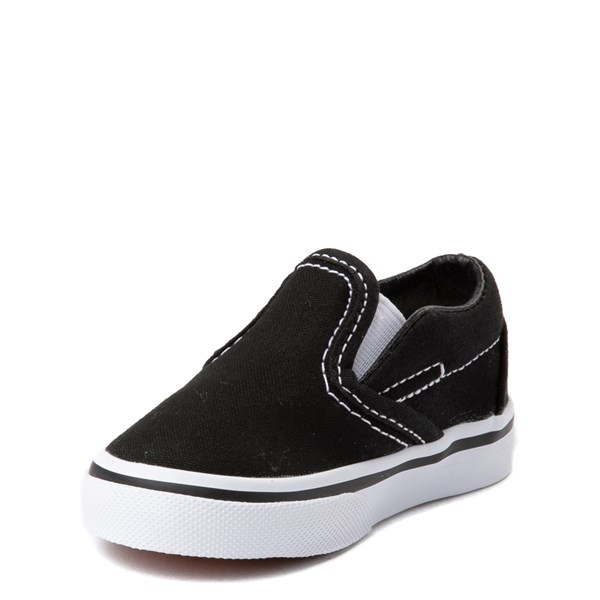 alternate view Vans Slip On Skate Shoe - Baby / Toddler - BlackALT3
