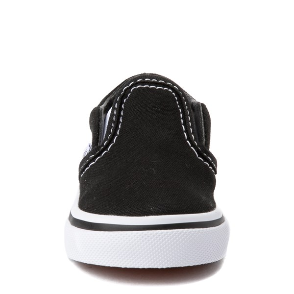 alternate view Vans Slip On Skate Shoe - Baby / Toddler - BlackALT4