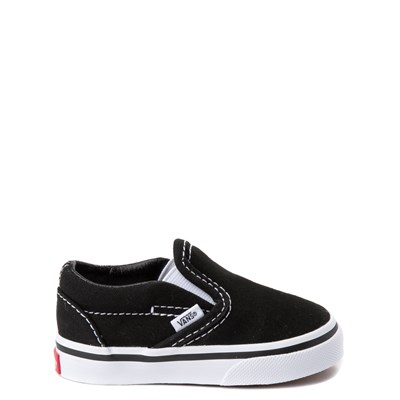 Main view of Vans Slip On Skate Shoe - Baby / Toddler - Black / White