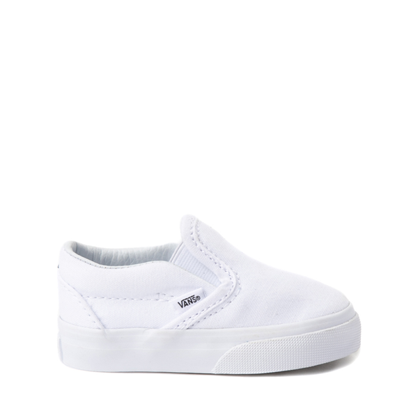Vans Slip On Skate Shoe - Baby / Toddler - White