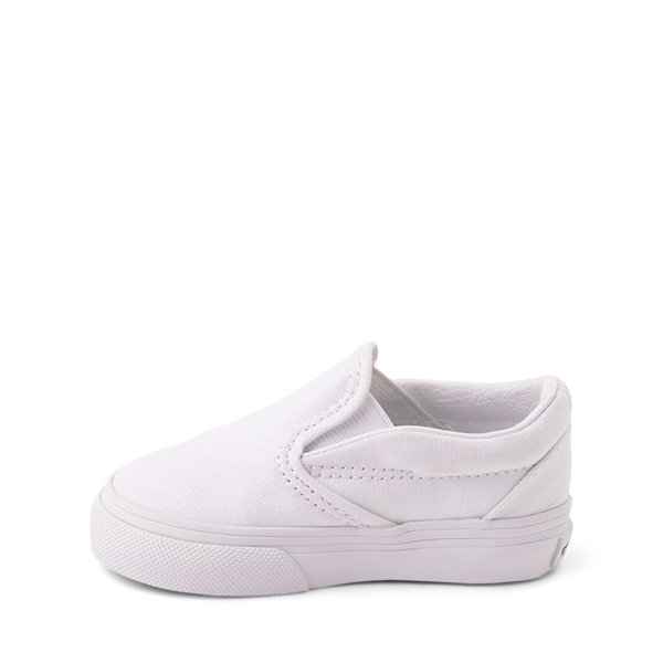 alternate view Vans Slip On Skate Shoe - Baby / Toddler - WhiteALT1