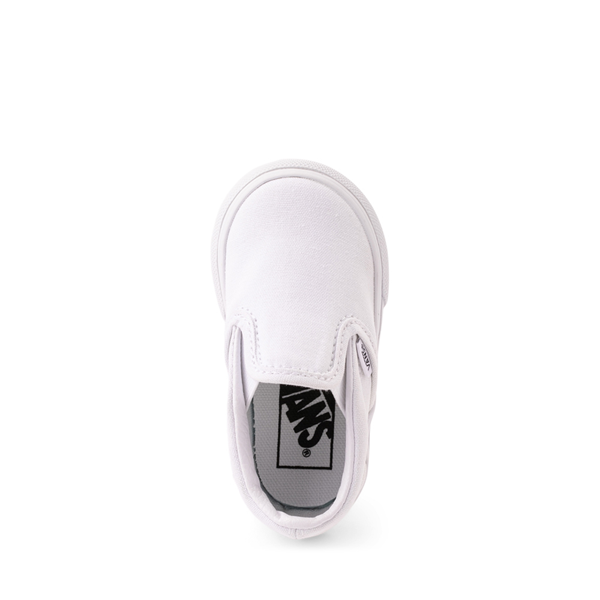 alternate view Vans Slip On Skate Shoe - Baby / Toddler - WhiteALT2