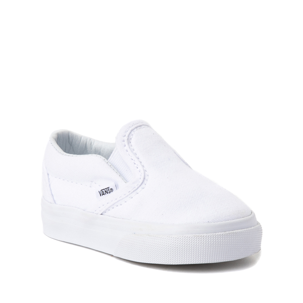 alternate view Vans Slip On Skate Shoe - Baby / Toddler - WhiteALT5