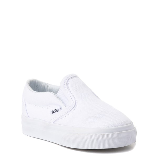Alternate view of Vans Slip On Skate Shoe - Baby / Toddler - White