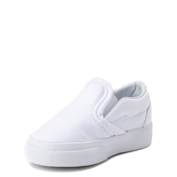 alternate view Vans Slip On Skate Shoe - Baby / Toddler - WhiteALT3