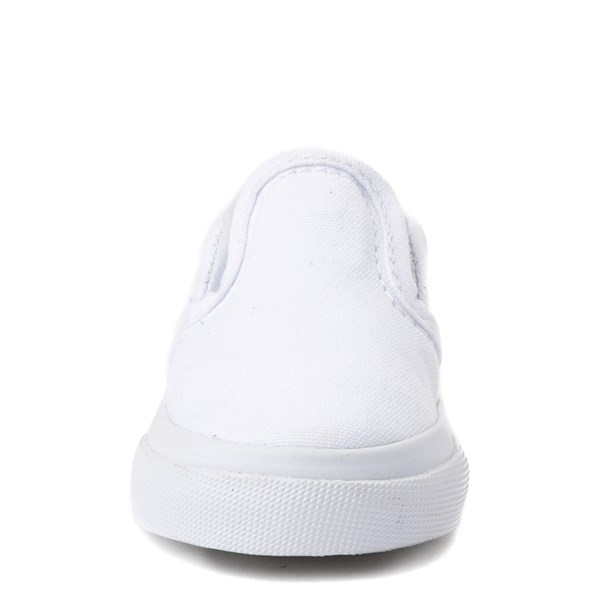 alternate view Vans Slip On Skate Shoe - Baby / Toddler - WhiteALT4
