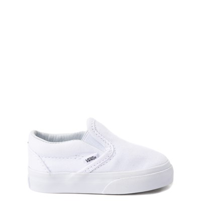 Main view of Vans Slip On Skate Shoe - Baby / Toddler - White
