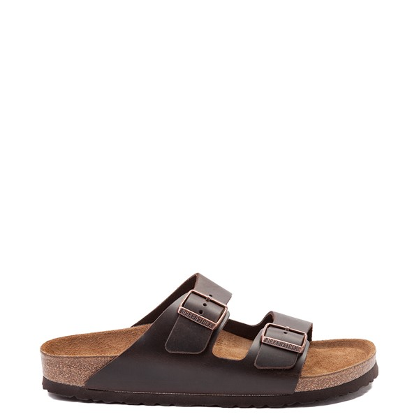 Main view of Mens Birkenstock Arizona Soft Footbed Sandal - Dark Brown